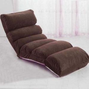 その他 もこもこリクライニング座椅子/フロアチェア 【ブラウン】 1人掛け 側地:起毛素材 スエード生地 ds-2165905