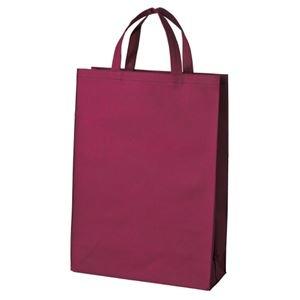 その他 (まとめ)スマートバリュー 不織布手提げバッグ中10枚ワイン B451J-WN【×5セット】 ds-2168974