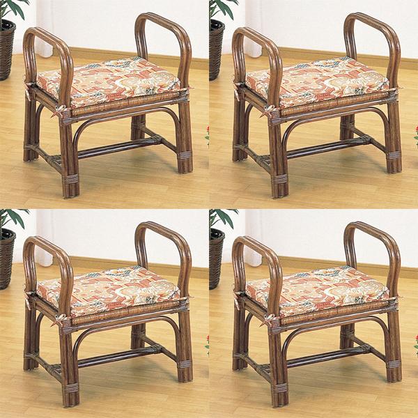 今枝商店 Romantic Rattan 便利座椅子【4脚組/沖縄・離島配達不可】 Z4S118B