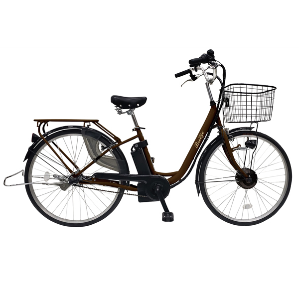 その他 26インチ電動アシスト自転車(3段変速)1台(ブラウン) 2214296