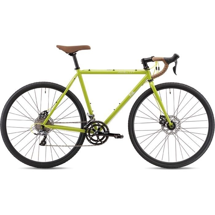 FUJI 2019年モデル フェザー シーエックス プラス(FEATHER CX+) 43cm 2x8段変速 BROWSE GREEN ディスクブレーキ ロードバイク 19FEACGR43