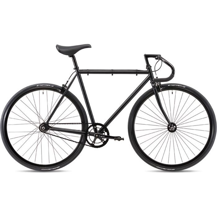 FUJI 2019年モデル フェザー(FEATHER ) 56cm シングルスピード MATTE BLACK ピストバイク 19FETRBK56