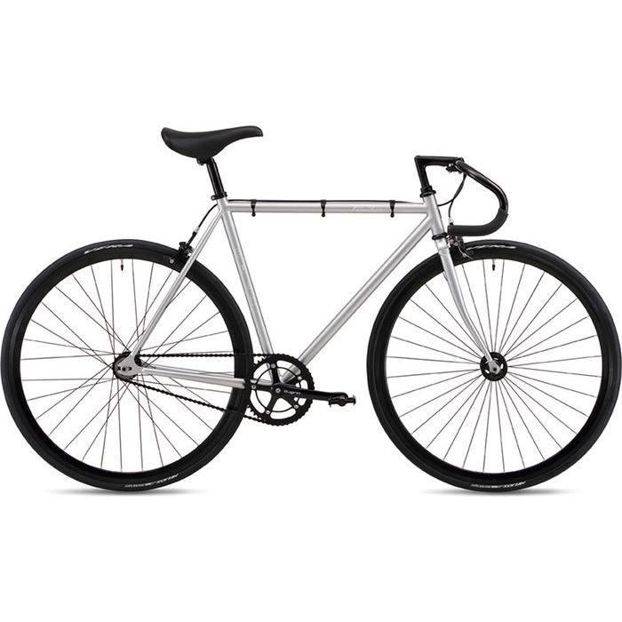 FUJI 2019年モデル フェザー(FEATHER ) 43cm シングルスピード MATTE SILVER ピストバイク 19FETRSV43