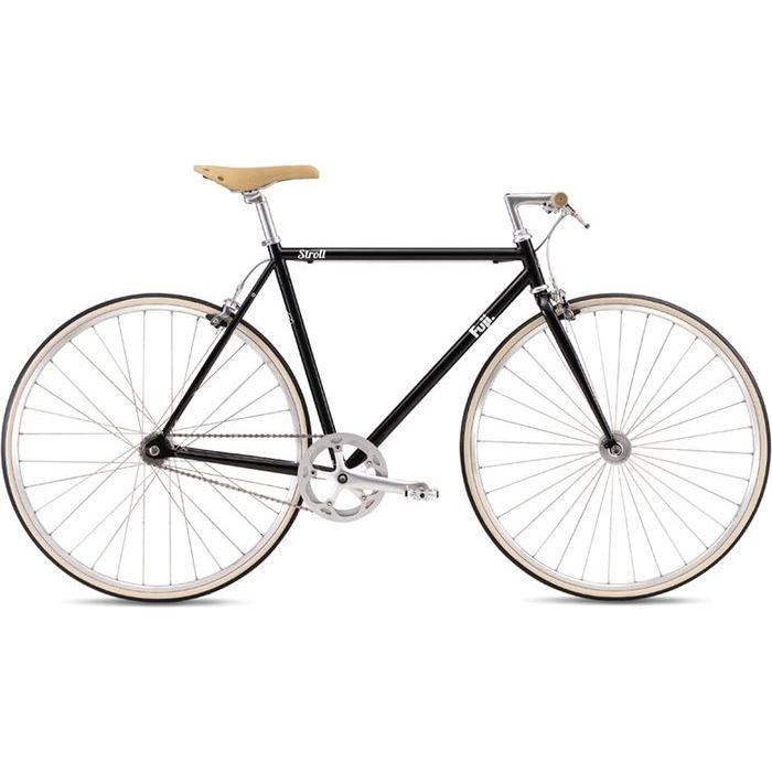 FUJI 2019年モデル ストロール(STROLL) 43cm シングルスピード BLACK クロスバイク 19STRLBK43