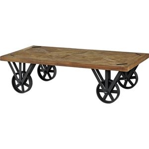 その他 トロリーテーブル/ローテーブル 【幅120cm】 木製 アイアン キャスター付き 『ヒストリア』 〔リビング 店舗〕【代引不可】 ds-2173506
