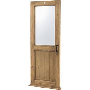 その他 ドア型 スタンドミラー/全身姿見鏡 【幅65cm】 木製 4mm飛散防止ミラー 〔ベッドルーム 寝室 玄関 リビング 店舗〕【代引不可】 ds-2173555