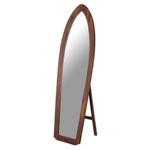 その他 スタンドミラー/全身姿見鏡 【幅48cm】 木製 5mm飛散防止ミラー 『サーフミラー』 〔ベッドルーム 寝室 玄関 リビング〕【代引不可】 ds-2173556