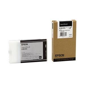 その他 【純正品】 エプソン(EPSON) インクカートリッジ ブラック 型番:ICBK39A 単位:1個 ds-1097363