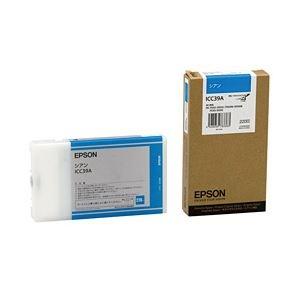 その他 【純正品】 エプソン(EPSON) インクカートリッジ シアン 型番:ICC39A 単位:1個 ds-1097364