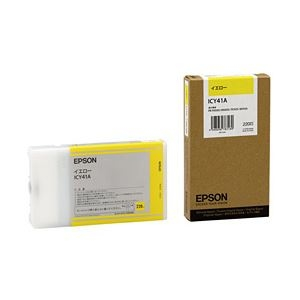 その他 【純正品】 エプソン(EPSON) インクカートリッジ イエロー 型番:ICY41A 単位:1個 ds-1098376