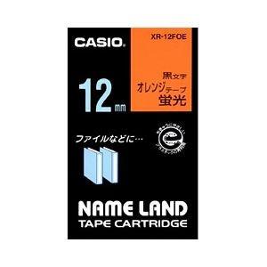 その他 (業務用セット) カシオ(CASIO) ネームランド エコテープカートリッジ 蛍光オレンジに黒文字 12mm 【×10セット】 ds-1642820