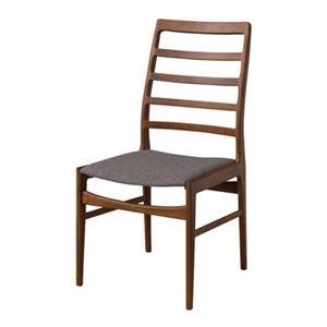 その他 ダイニングチェア/食卓椅子 2脚セット 【幅56cm】 木製 ウレタン塗装 ポリエステル 〔キッチン 台所 店舗〕 ds-2173446
