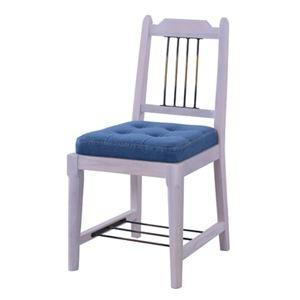 その他 ダイニングチェア/食卓椅子 2脚セット 【ホワイト】 幅42cm 木製 アイアン ラッカー塗装 コットン 『ブリジット』 〔キッチン〕 ds-2173475