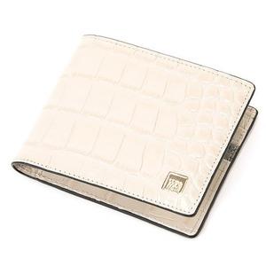 その他 PRIMA CLASSE(プリマクラッセ)PSW9-2138 クロコ型押しレザー二つ折り財布 (アイボリー) ds-2173830