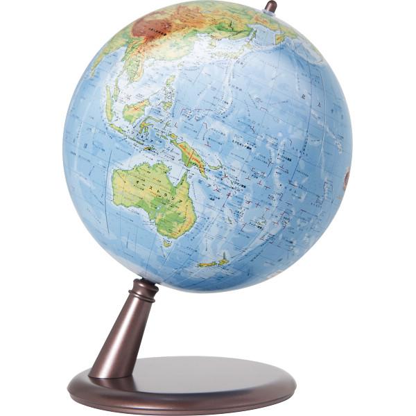 その他 スタンド地球儀&卓上地球儀セット 茶色 ブルー 0039231228181【納期目安:1週間】