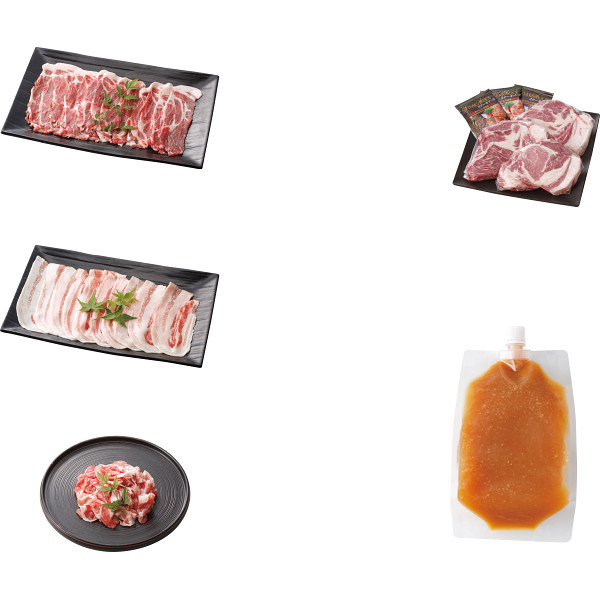 その他 「イブ美豚」(猪豚肉) しゃぶしゃぶ&ステーキ用セット 2460085000346【納期目安:1週間】
