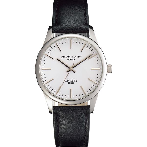 その他 キャサリン ハムネット アプライドインデックス腕時計 ホワイト (包装・のし可) 4970347019682【納期目安:1週間】