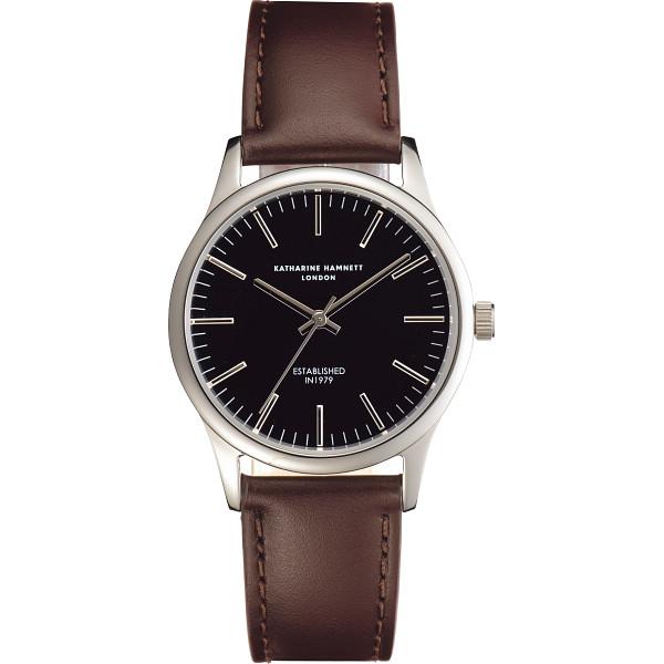 その他 キャサリン ハムネット アプライドインデックス腕時計 ブラック (包装・のし可) 4970347019699【納期目安:1週間】