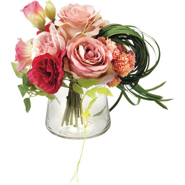 その他 プリマ ガラスベ-スアレンジ(造花) ピンク (包装・のし可) 4589635421450【納期目安:1週間】