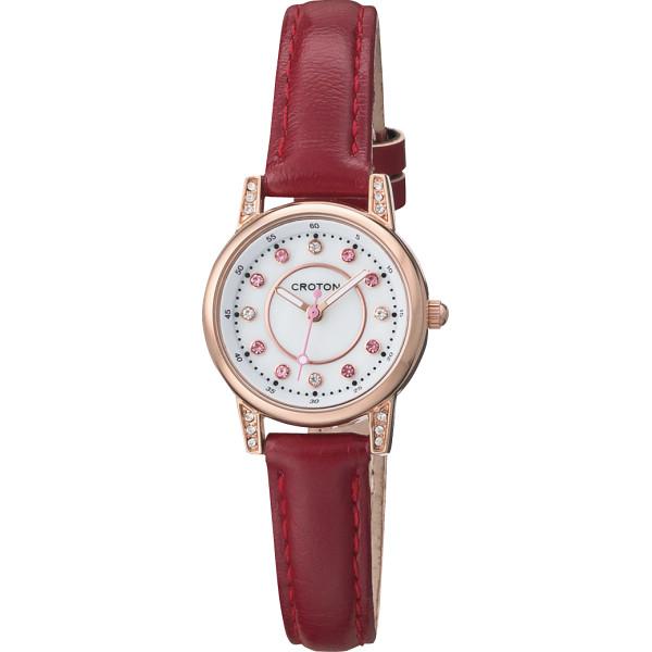 その他 クロトン ドレスレディス腕時計 レッド (包装・のし可) 4961136063351【納期目安:1週間】