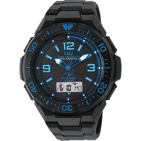その他 Q&Q ソーラー電源機能付 コンビネーション電波 腕時計 ブルー (包装・のし可) 4966006063509【納期目安:1週間】
