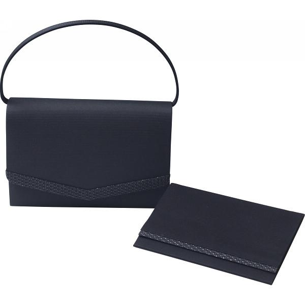その他 「シルク印伝」使い 日本製フォーマルバッグ(袱紗付) ブラック (包装・のし可) 4560286934179【納期目安:1週間】