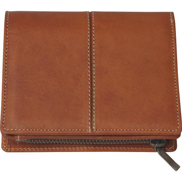 その他 日本製 牛革二つ折れ財布(ファスナー付小銭入れ)(包装・のし可) 4560286936258【納期目安:1週間】