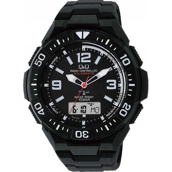 その他 Q&Q ソーラー電源機能付コンビネーション電波腕時計(包装・のし可) 4966006063462