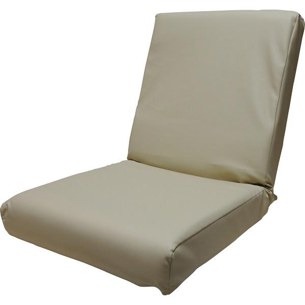その他 低反発レザー座椅子 アイボリー 4562304848604【納期目安:1週間】