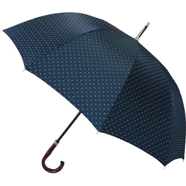 その他 甲州織 紳士手開き長傘 ネイビー (包装・のし可) 4580117929136【納期目安:1週間】