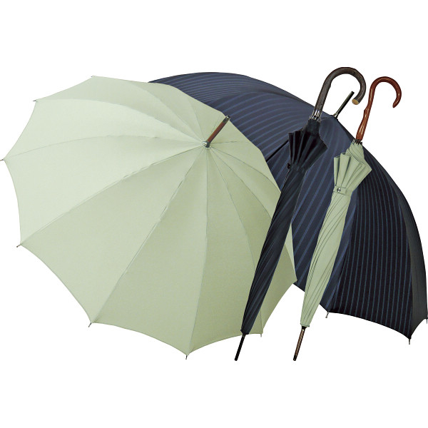 その他 職人の手作り 紳士・婦人晴雨兼用長傘セット ウグイス (包装・のし可) 4580117929167【納期目安:1週間】