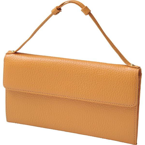 その他 良品工房 日本製牛革持ち手付財布 キャメル (包装・のし可) 4560286933332【納期目安:1週間】