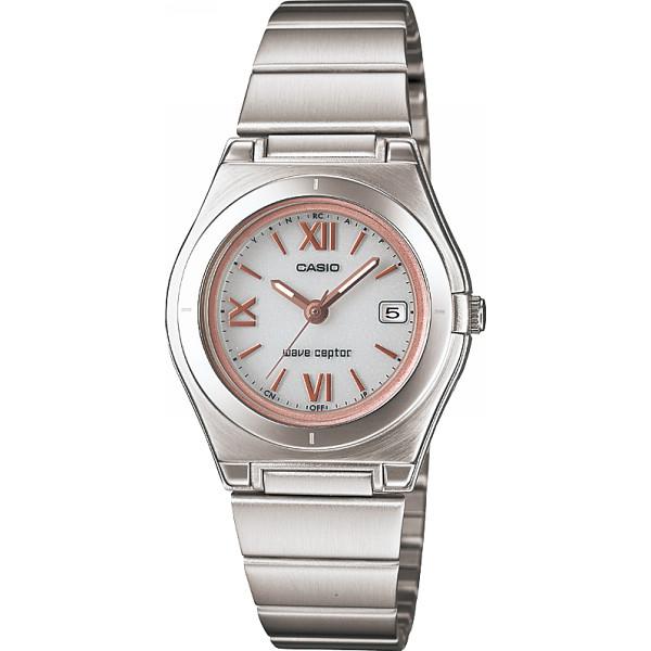 その他 カシオ ソーラー電波レディース腕時計 ホワイト/ピンク (包装・のし可) 4971850965466【納期目安:1週間】