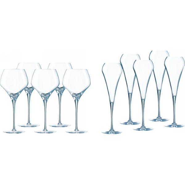 その他 シェフ&ソムリエ オープンナップ 5人用ワイングラスセット(包装・のし可) 4560298704777【納期目安:1週間】