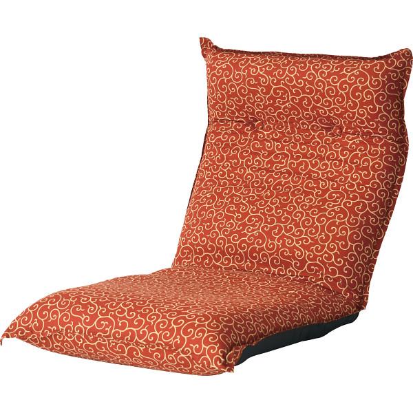 その他 唐草柄低反発リクライニング座椅子 レッド (包装・のし可) 4511412988979