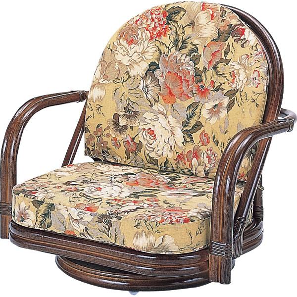 その他 籐回転座椅子ロータイプ 4945052115431【納期目安:1週間】