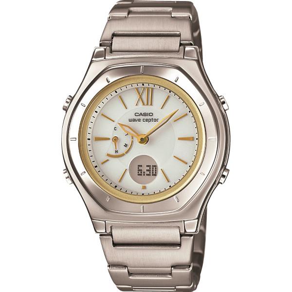 その他 カシオ ウェーブセプター ソーラー電波レディース腕時計 ホワイトゴールド (包装・のし可) 4971850038924