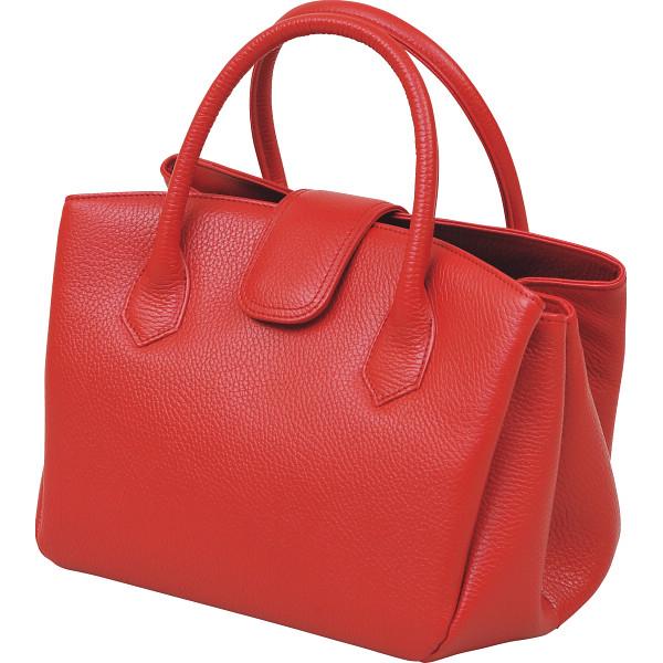 その他 良品工房 日本製牛革 ジャバラ式手提バッグ レッド (包装・のし可) 4560286935718