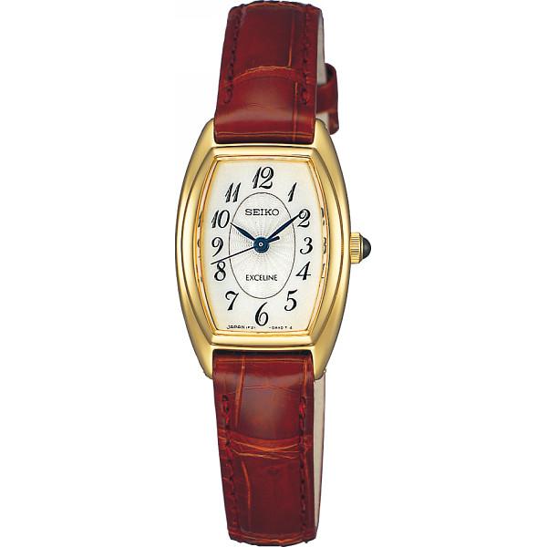 その他 セイコー エクセリーヌ レディース腕時計 レッド (包装・のし可) 4954628576736【納期目安:1週間】