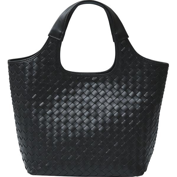 その他 良品工房 日本製牛革 編込みバッグ 黒 (包装・のし可) 4560286936043【納期目安:1週間】