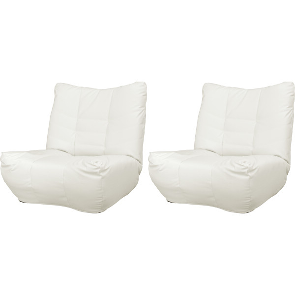 その他 座椅子 ローマ2個組 アイボリー 2433085000791【納期目安:1週間】