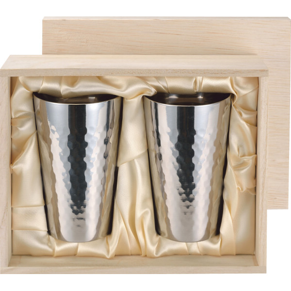 その他 食楽工房 ペアチタンカップ(包装・のし可) 4995284118960【納期目安:1週間】