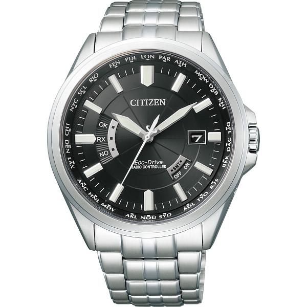 その他 シチズン メンズ電波腕時計 ブラック (包装・のし可) 4974375456532【納期目安:1週間】