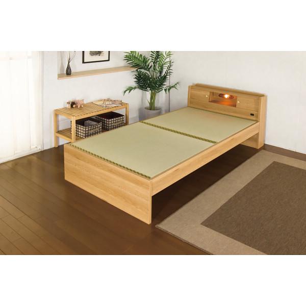その他 畳ベッド(棚・コンセント・照明付) ナチュラル シングルサイズ 4580238973766【納期目安:1週間】