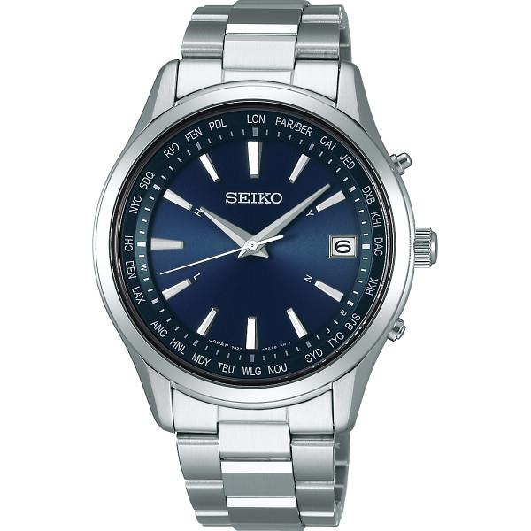その他 セイコー ワールドタイム ソーラー電波腕時計 ブルー (包装・のし可) 4954628448200【納期目安:1週間】