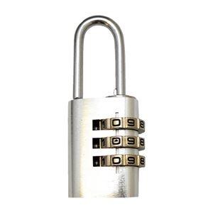 その他 (まとめ)WAKI アルミのカギ 3段番号可変式錠 シルバー【×30セット】 ds-2178065