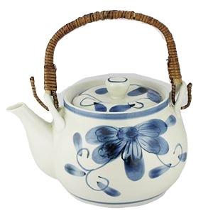 その他 (まとめ)西海陶器 青い花 軽量6号土瓶【×5セット】 ds-2178485