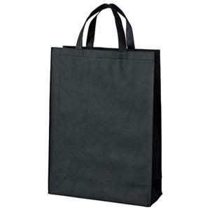 その他 (まとめ)スマートバリュー 不織布手提げバッグ中10枚 ブラック B451J-BK【×30セット】 ds-2180405