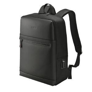 その他 (まとめ)ウノフク USBボート付バッグパック 13-6074 黒【×5セット】 ds-2181562