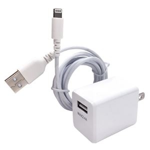 その他 (まとめ)オズマ AC-USB充電器IH-ACU24L150W ホワイト【×5セット】 ds-2181631